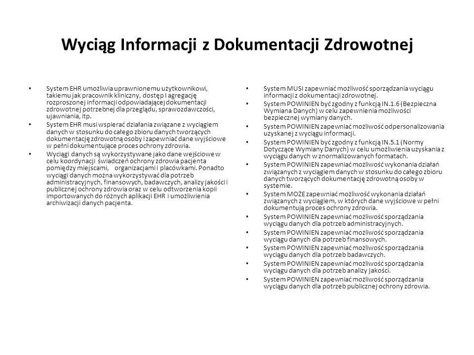Wyciąg Informacji z Dokumentacji Zdrowotnej