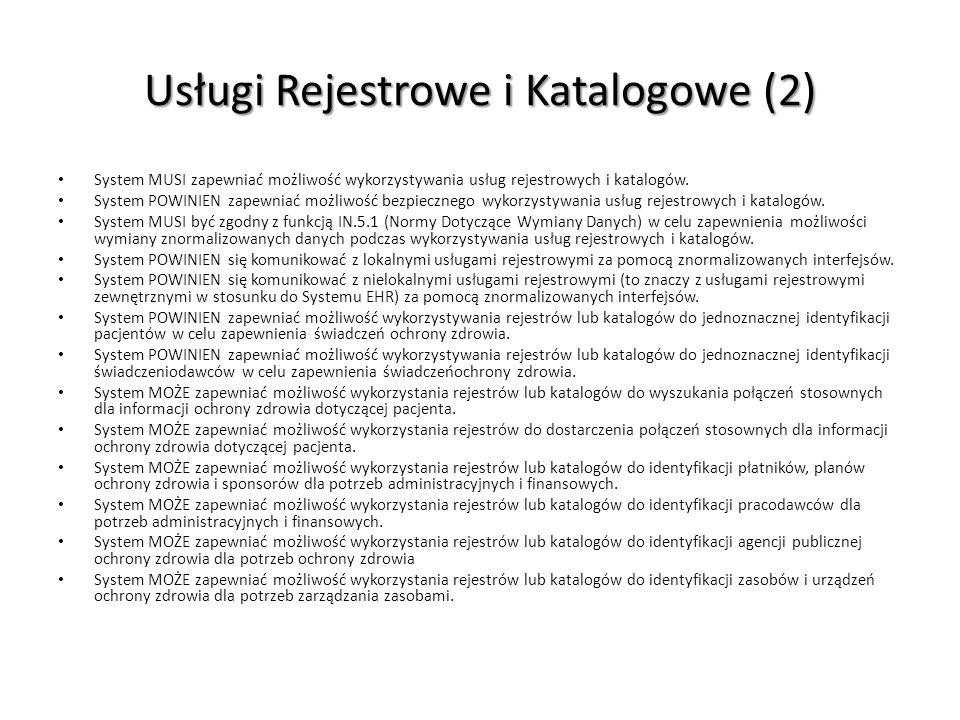 Usługi Rejestrowe i Katalogowe (2)