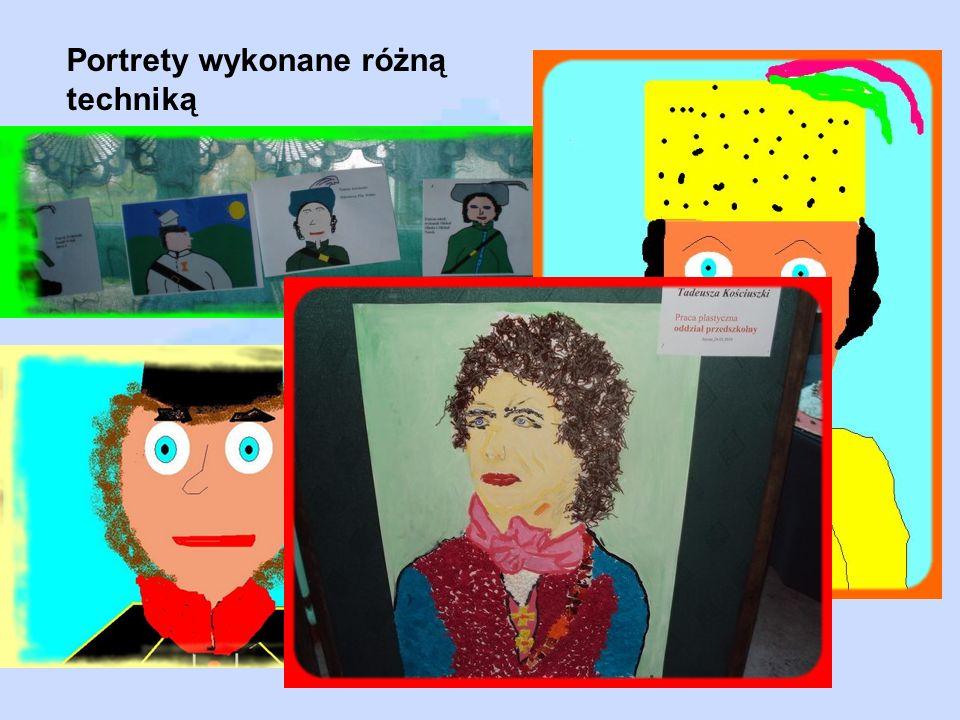 Portrety wykonane różną techniką