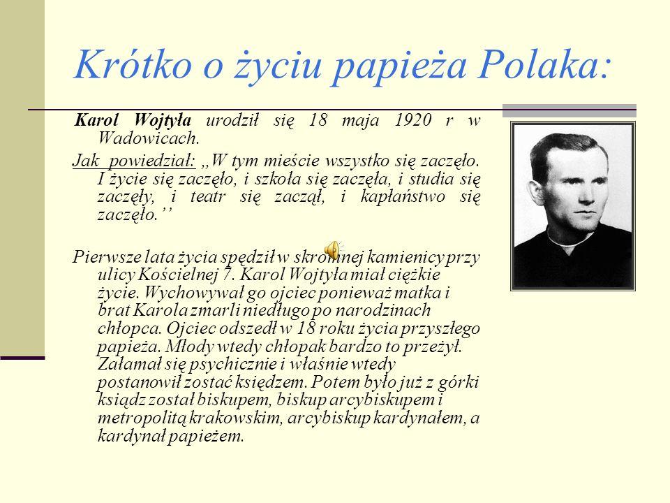Krótko o życiu papieża Polaka: