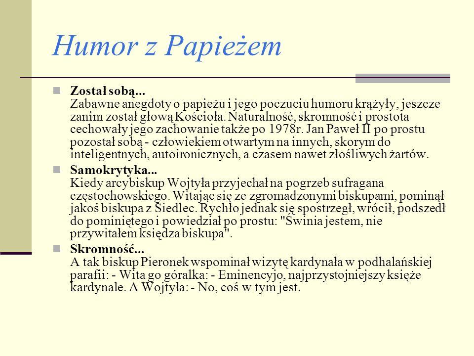 Humor z Papieżem