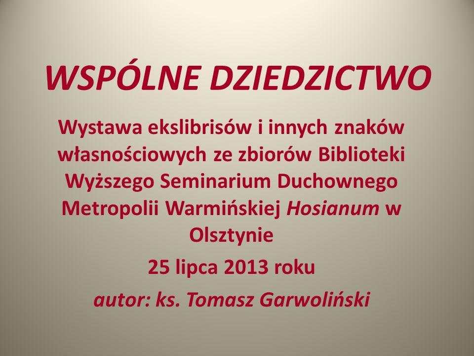 autor: ks. Tomasz Garwoliński
