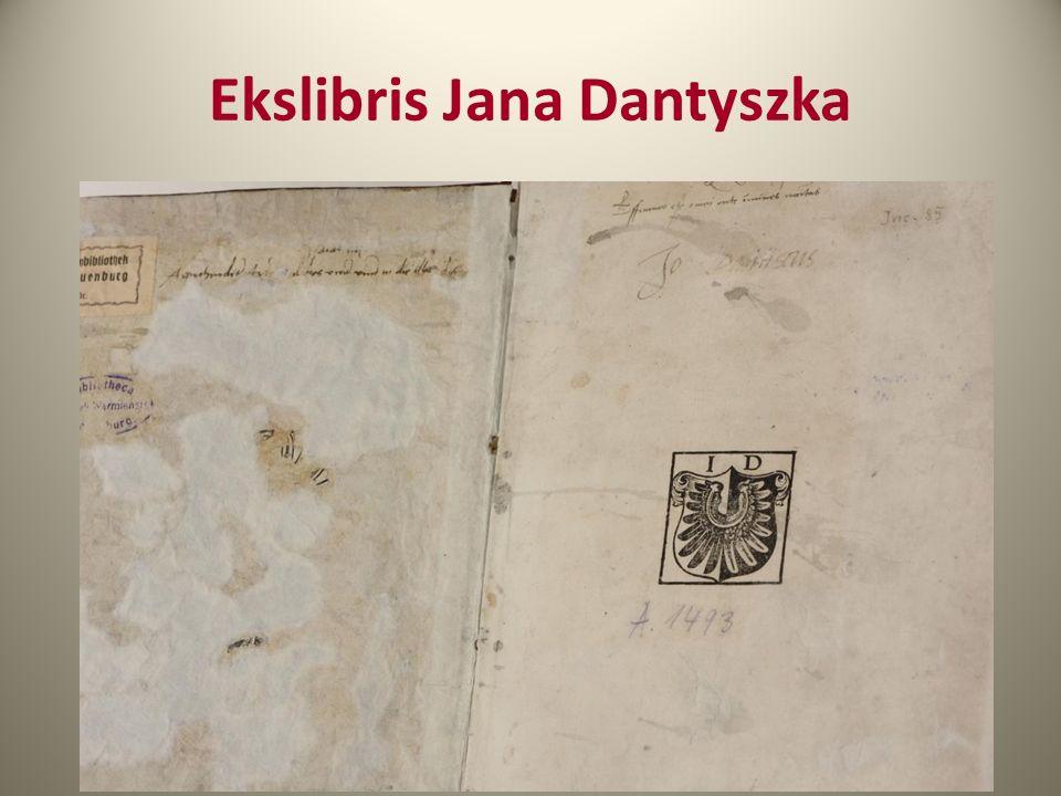 Ekslibris Jana Dantyszka