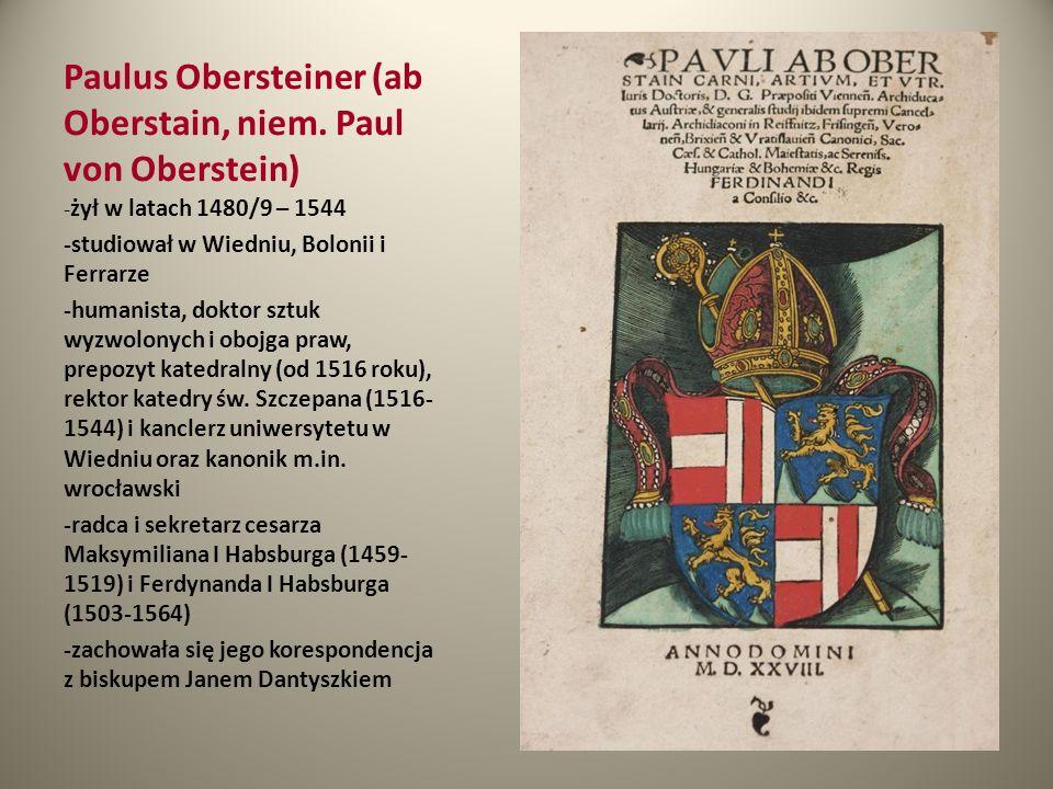 Paulus Obersteiner (ab Oberstain, niem. Paul von Oberstein)