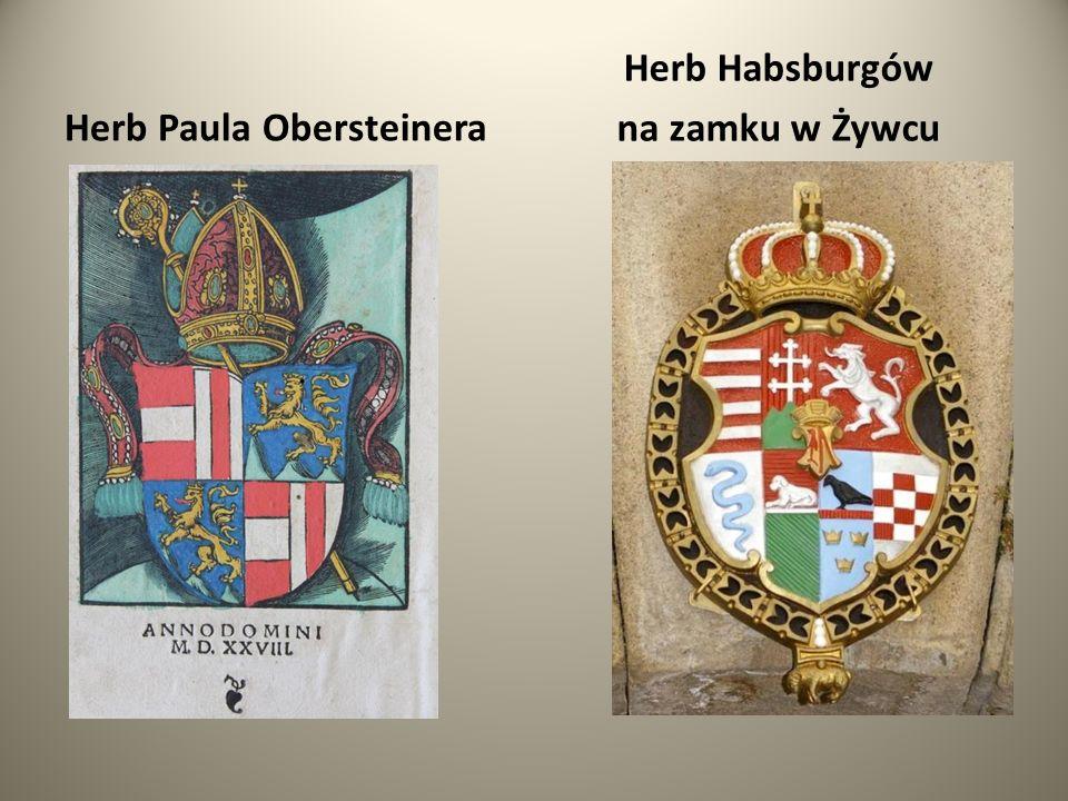 Herb Habsburgów na zamku w Żywcu Herb Paula Obersteinera
