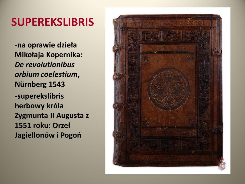 SUPEREKSLIBRIS na oprawie dzieła Mikołaja Kopernika: De revolutionibus orbium coelestium, Nürnberg 1543.