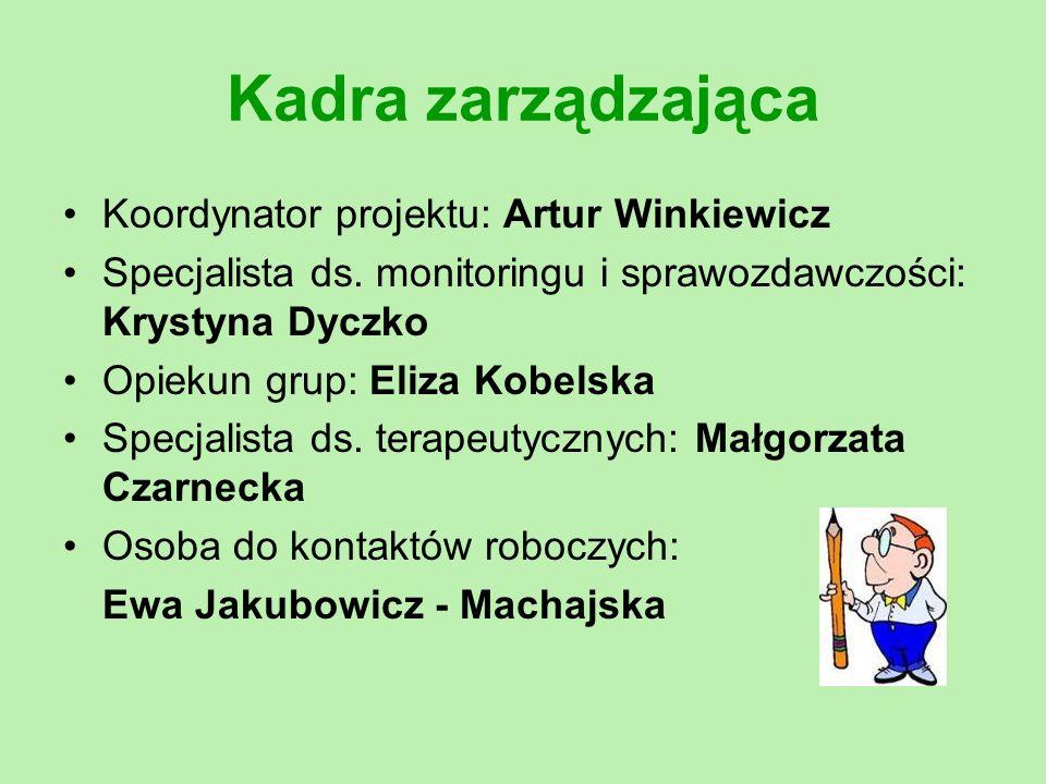 Kadra zarządzająca Koordynator projektu: Artur Winkiewicz