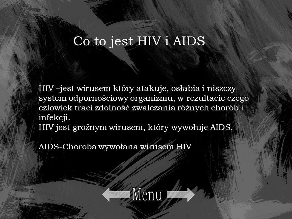 Menu Co to jest HIV i AIDS