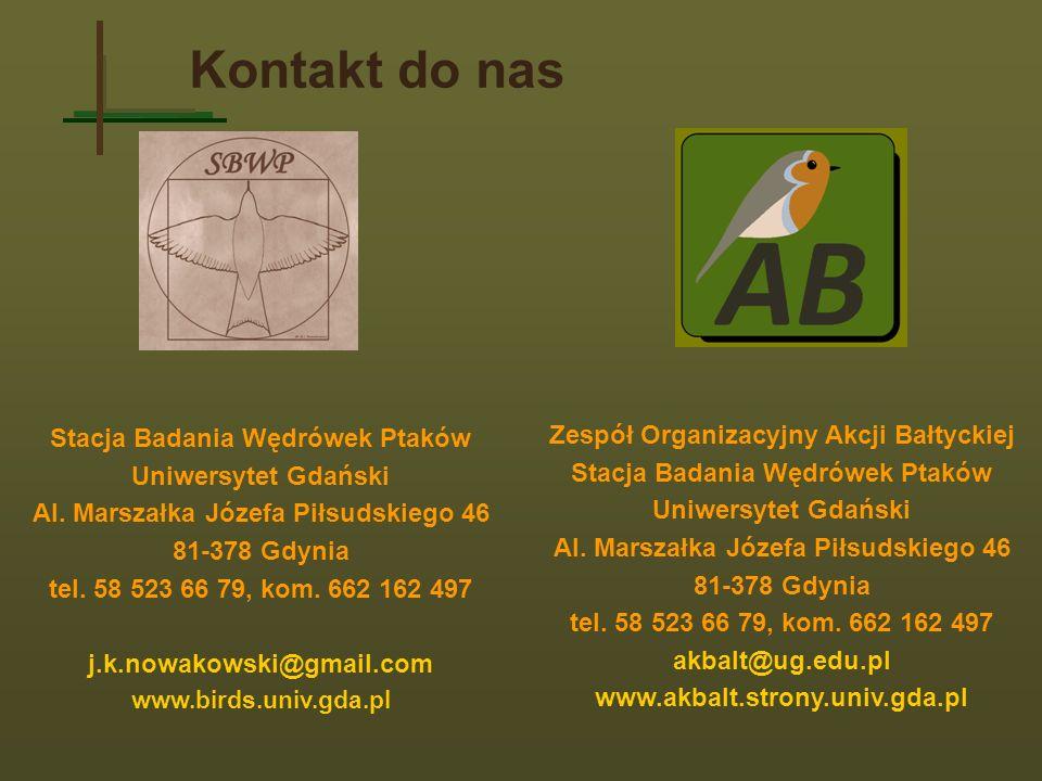 Kontakt do nas Stacja Badania Wędrówek Ptaków