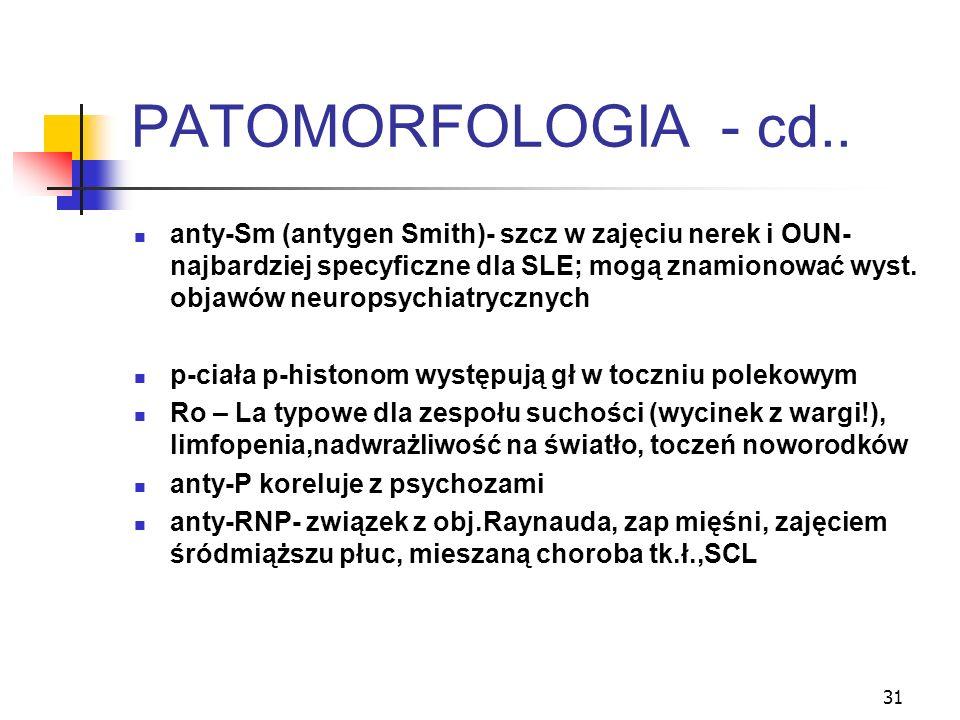 PATOMORFOLOGIA - cd..