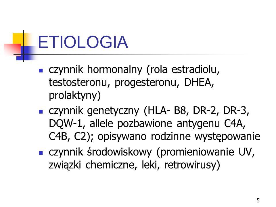 ETIOLOGIA czynnik hormonalny (rola estradiolu, testosteronu, progesteronu, DHEA, prolaktyny)