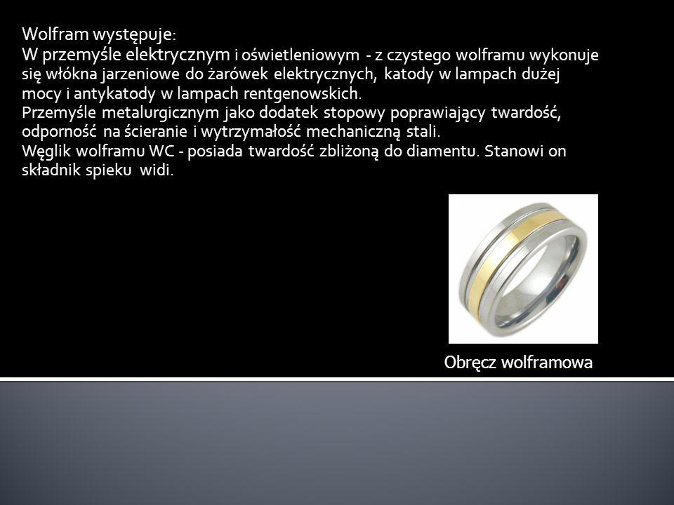 Wolfram występuje: