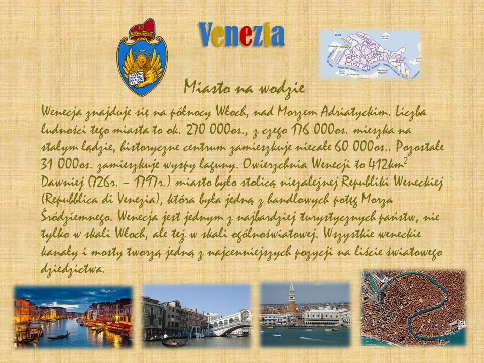 Venezia Miasto na wodzie