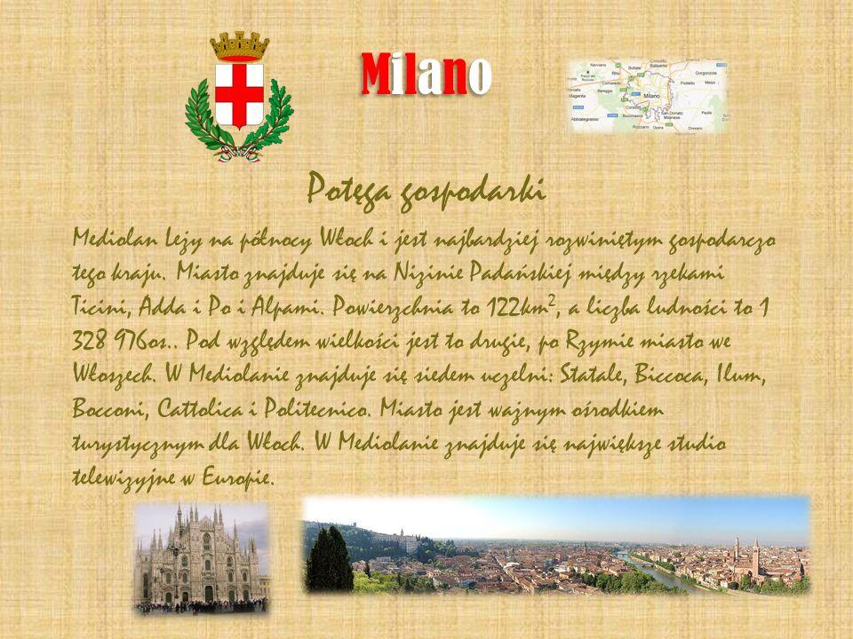 Milano Potęga gospodarki