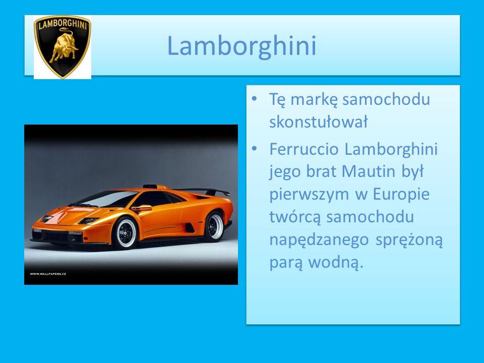 Lamborghini Tę markę samochodu skonstułował