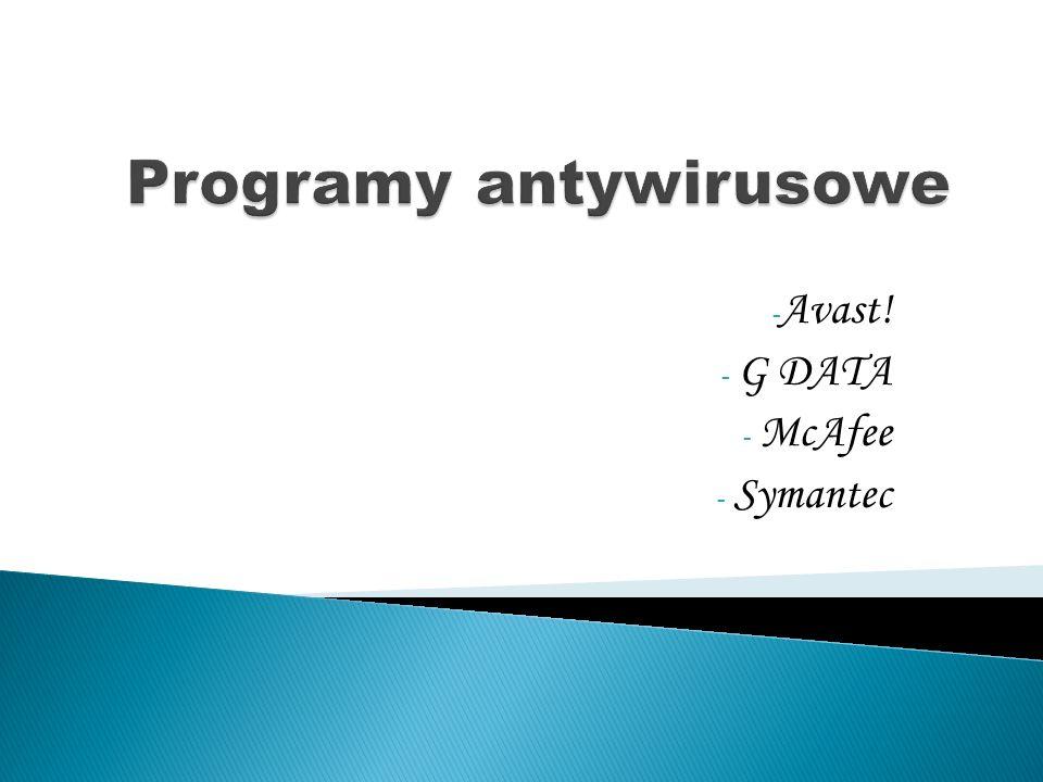 Programy antywirusowe