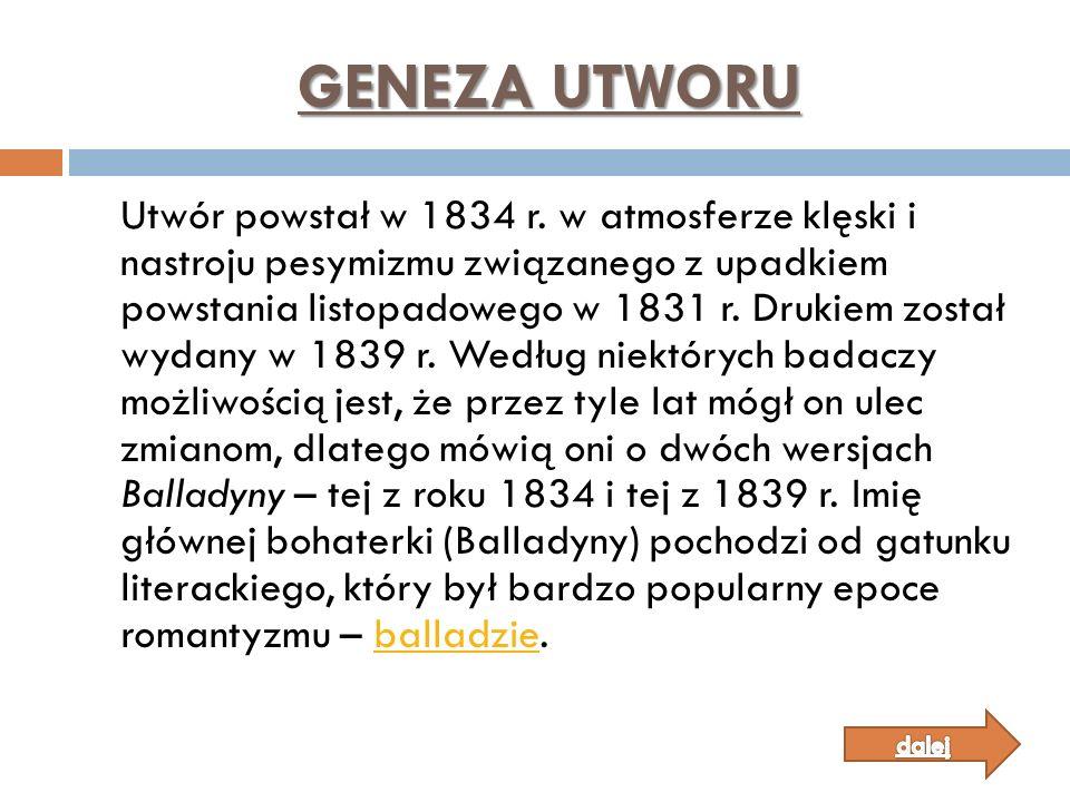 GENEZA UTWORU