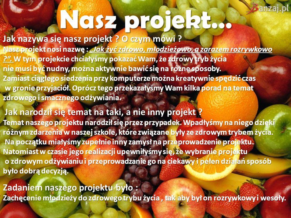 Nasz projekt… Jak nazywa się nasz projekt O czym mówi