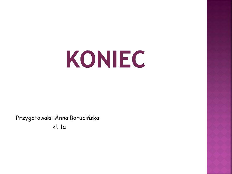 koniec Przygotowała: Anna Borucińska kl. 1a