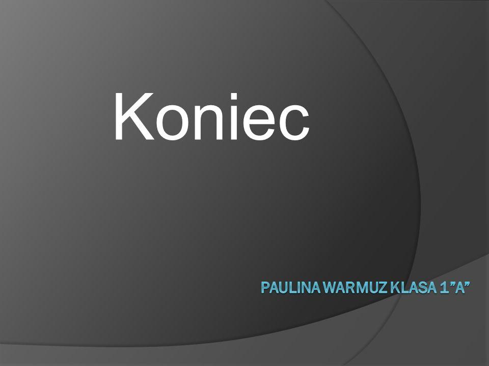 Paulina Warmuz klasa 1 a