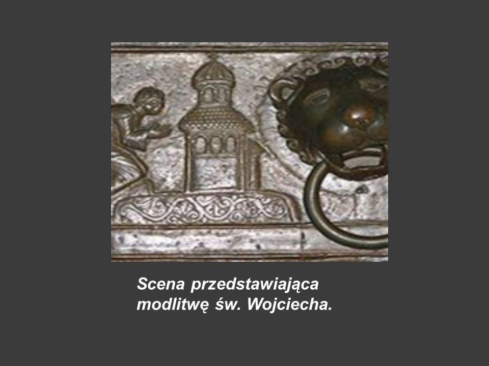 Scena przedstawiająca modlitwę św. Wojciecha.