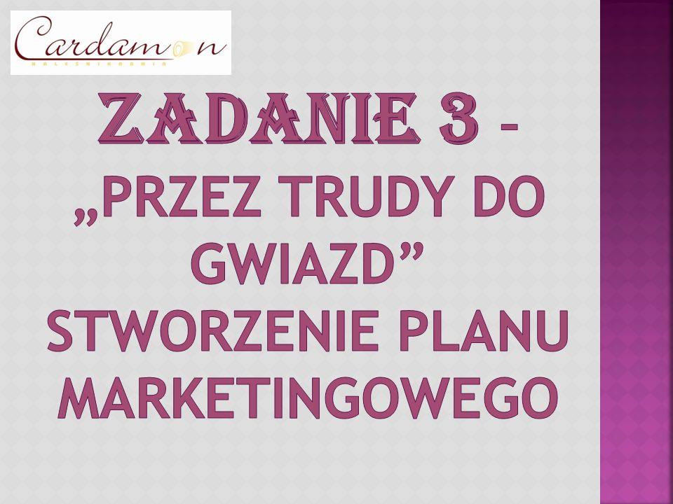 """ZADANIE 3 – """"Przez trudy do gwiazd stworzenie planu marketingowego"""