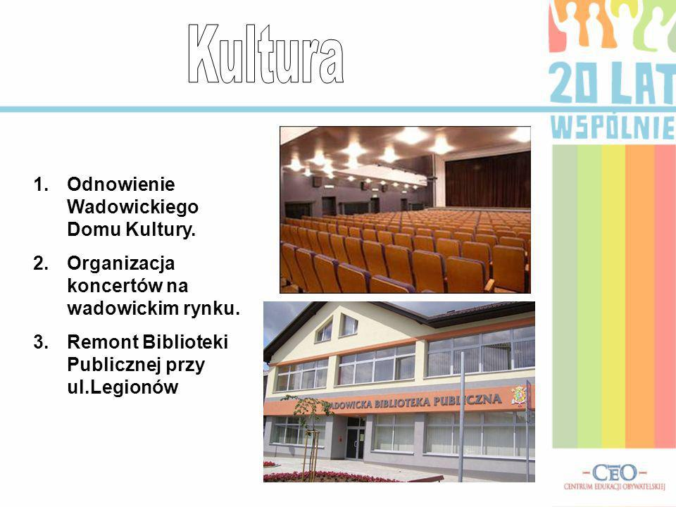 Kultura Odnowienie Wadowickiego Domu Kultury.