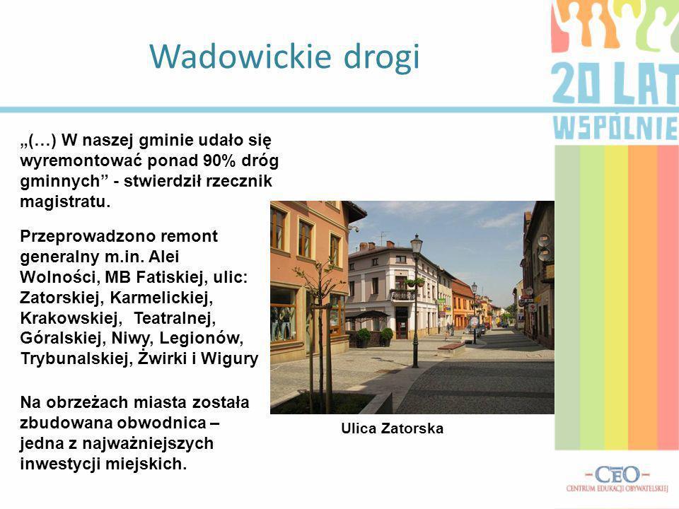 """Wadowickie drogi """"(…) W naszej gminie udało się wyremontować ponad 90% dróg gminnych - stwierdził rzecznik magistratu."""