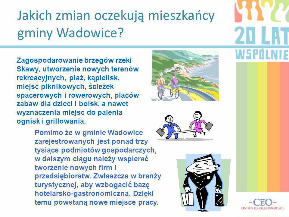 Jakich zmian oczekują mieszkańcy gminy Wadowice