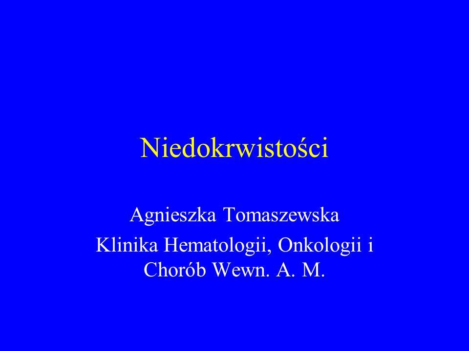Niedokrwistości Agnieszka Tomaszewska