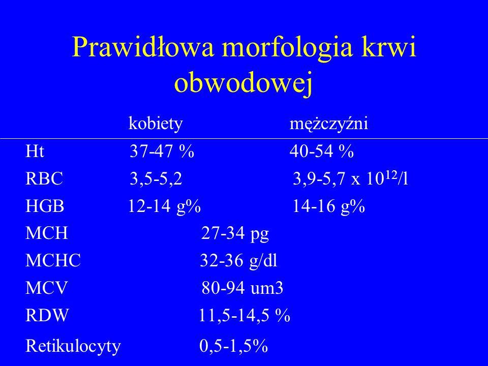 Prawidłowa morfologia krwi obwodowej
