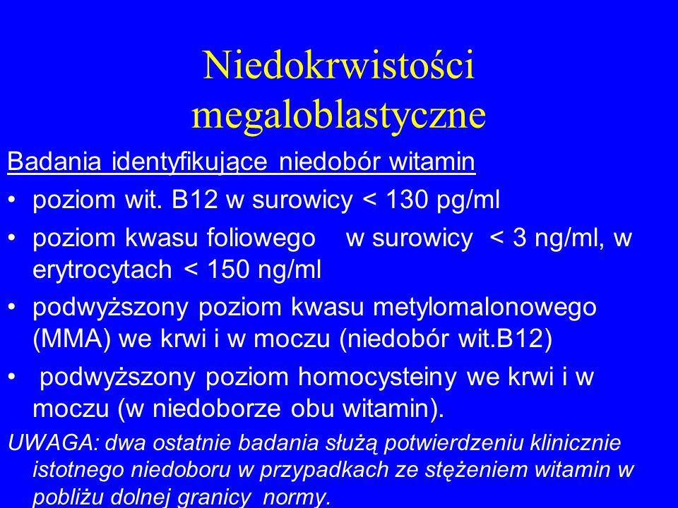 Niedokrwistości megaloblastyczne