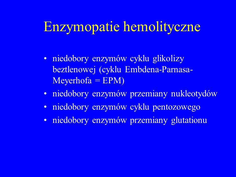 Enzymopatie hemolityczne