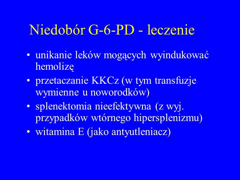 Niedobór G-6-PD - leczenie