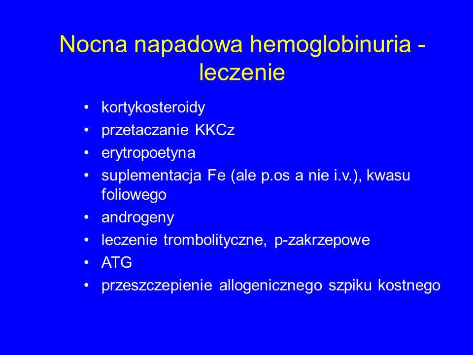 Nocna napadowa hemoglobinuria - leczenie