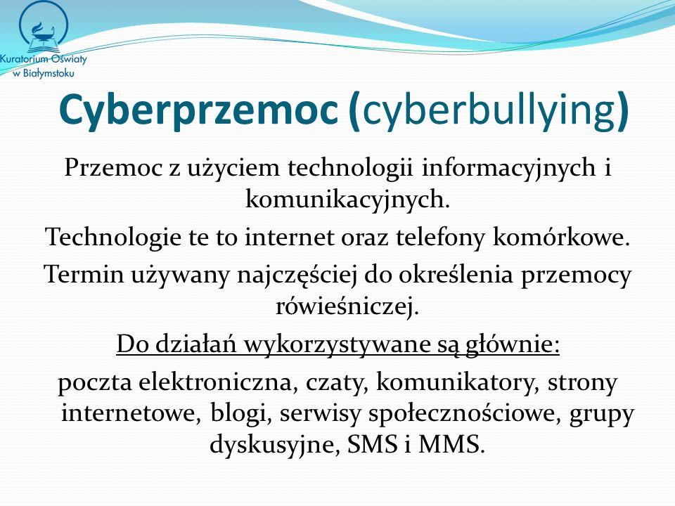 Cyberprzemoc (cyberbullying)