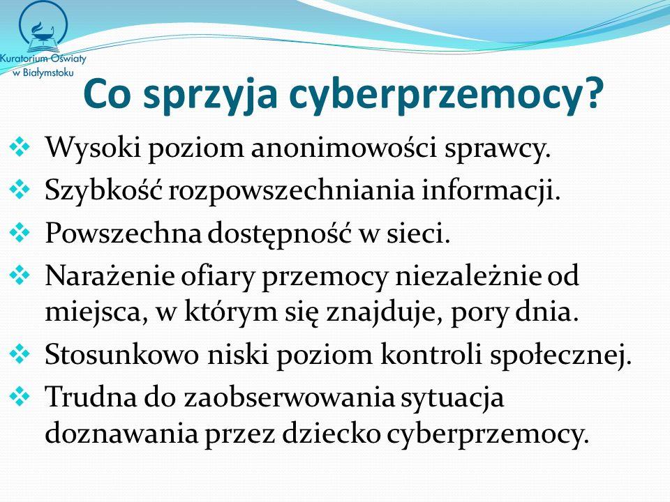 Co sprzyja cyberprzemocy
