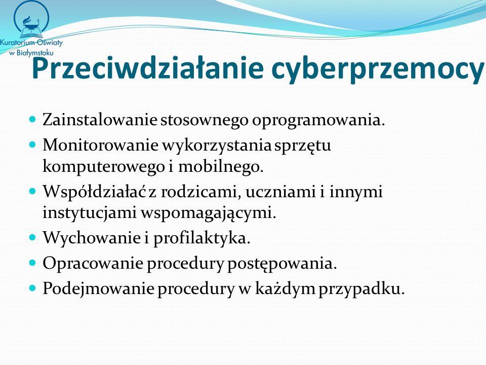 Przeciwdziałanie cyberprzemocy