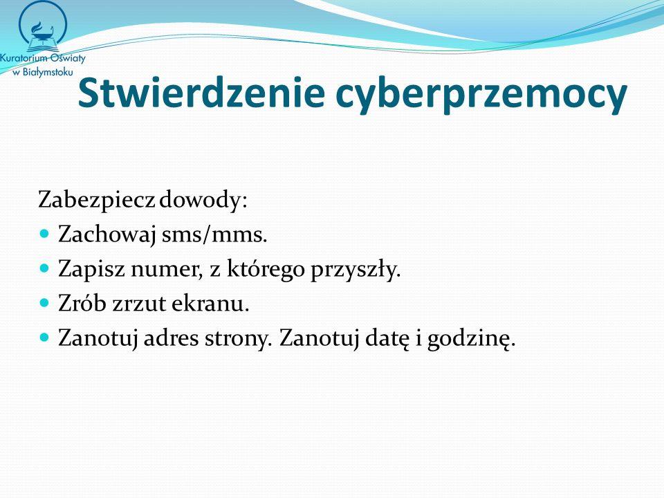 Stwierdzenie cyberprzemocy