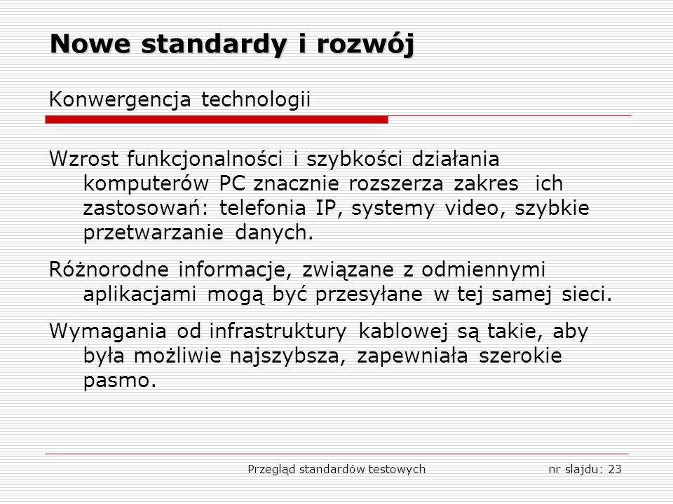 Nowe standardy i rozwój