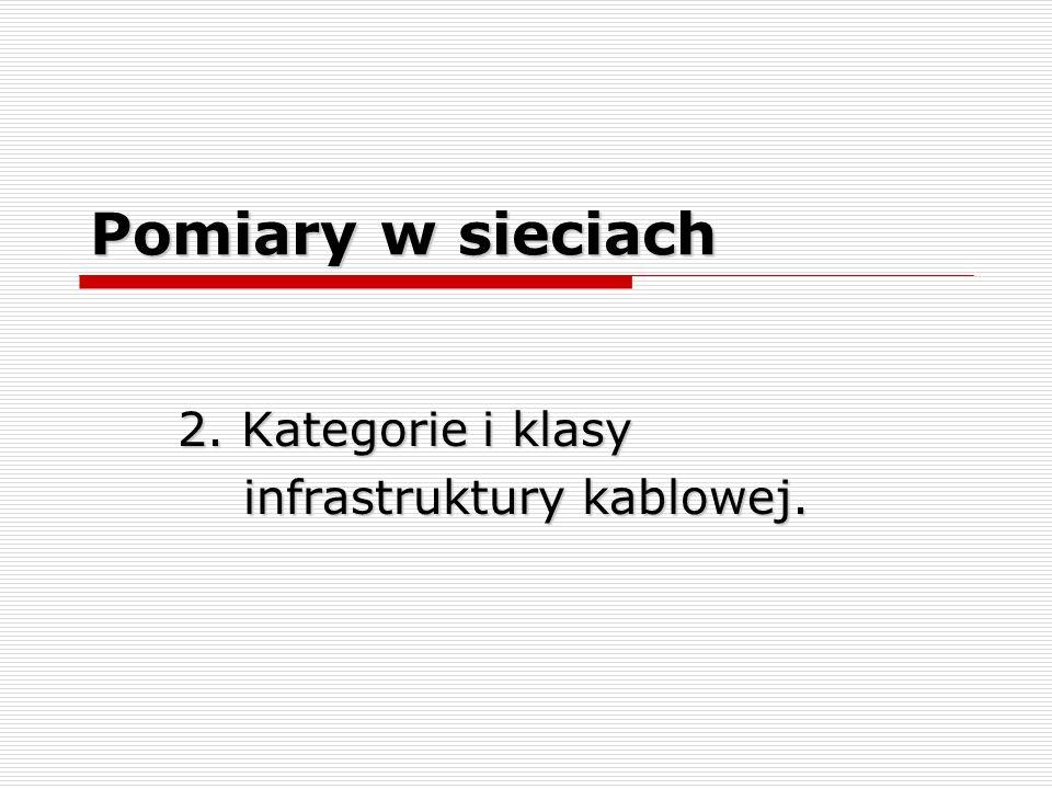 2. Kategorie i klasy infrastruktury kablowej.