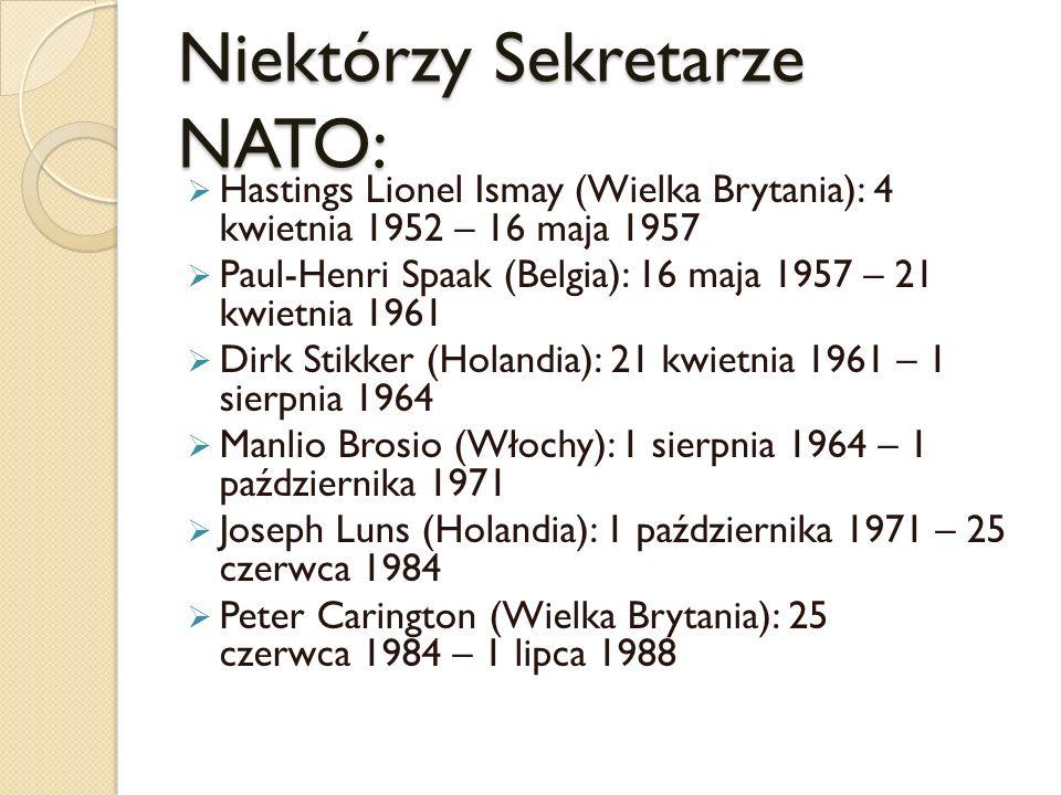 Niektórzy Sekretarze NATO: