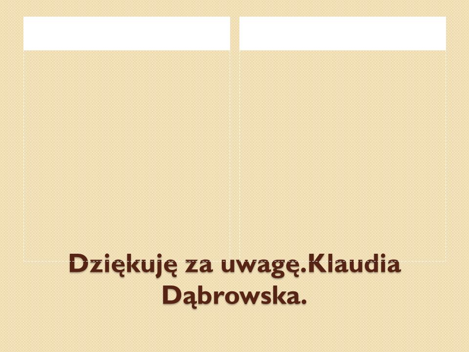 Dziękuję za uwagę.Klaudia Dąbrowska.
