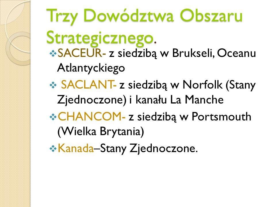 Trzy Dowództwa Obszaru Strategicznego.