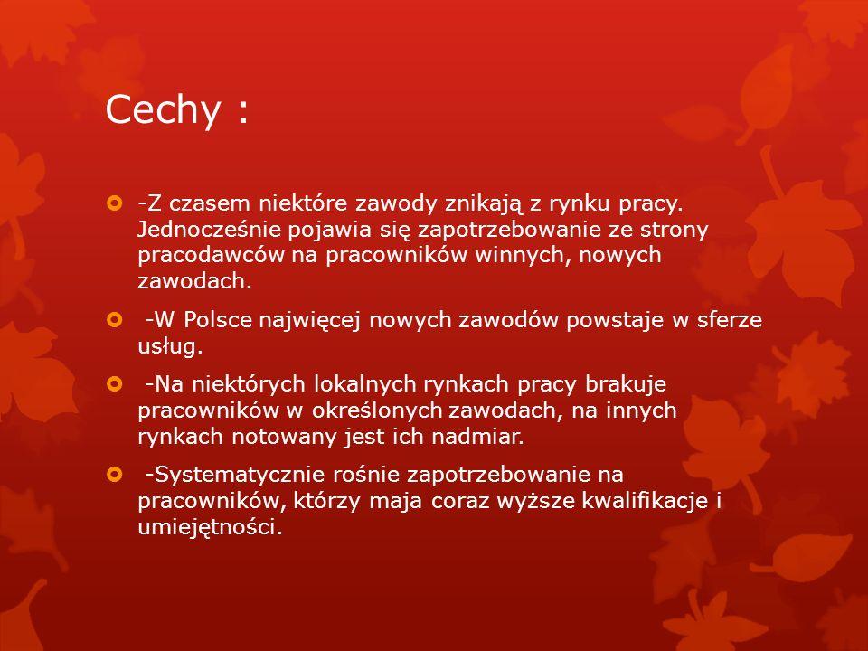 Cechy :
