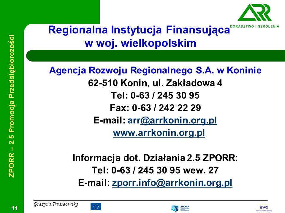 Regionalna Instytucja Finansująca w woj. wielkopolskim