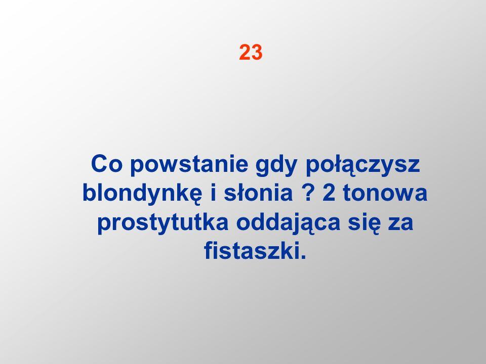 23 Co powstanie gdy połączysz blondynkę i słonia 2 tonowa prostytutka oddająca się za fistaszki.