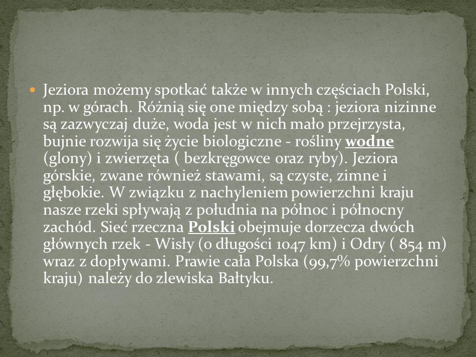 Jeziora możemy spotkać także w innych częściach Polski, np. w górach