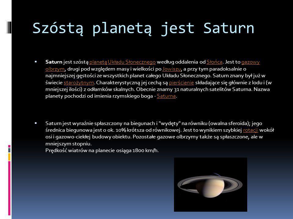 Szóstą planetą jest Saturn