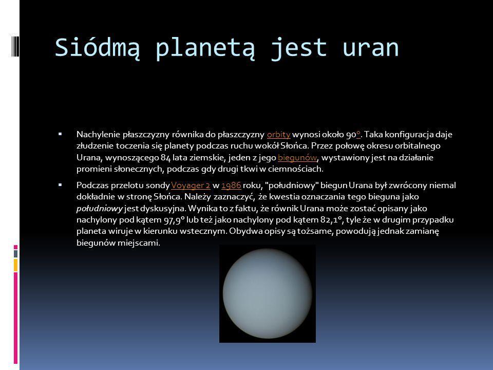 Siódmą planetą jest uran